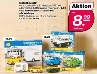 [Netto mit Hund] Cobi Klemmbausteine Trabant 601, mit Anhänger und mehr ab 8,99€ - z.B. Cobi Youngtimer - Trabant 601 Feuerwehr (24555)
