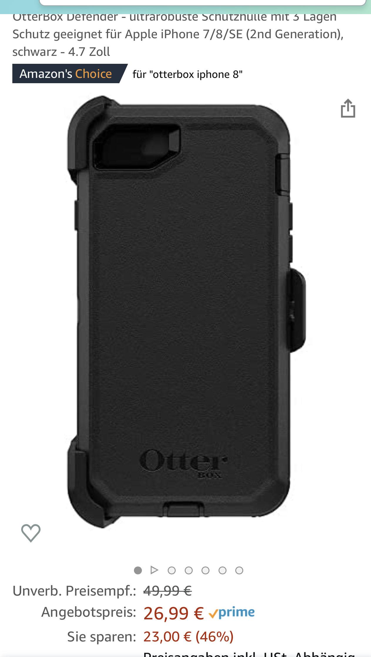 Otterbox Defender für iPhone 7 8 und SE (2020)