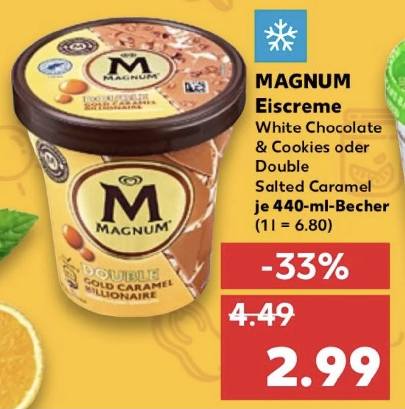 Magnum Double Gold Caramel Billionaire 440ml Eimer bei Kaufland