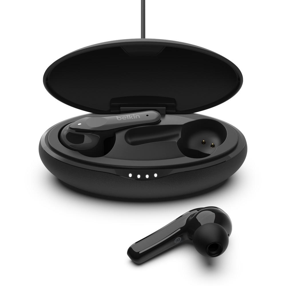 Belkin Soundform Move True Wireless In-Ear-Kopfhörer mit kabelgebundenem Ladecase - schwarz