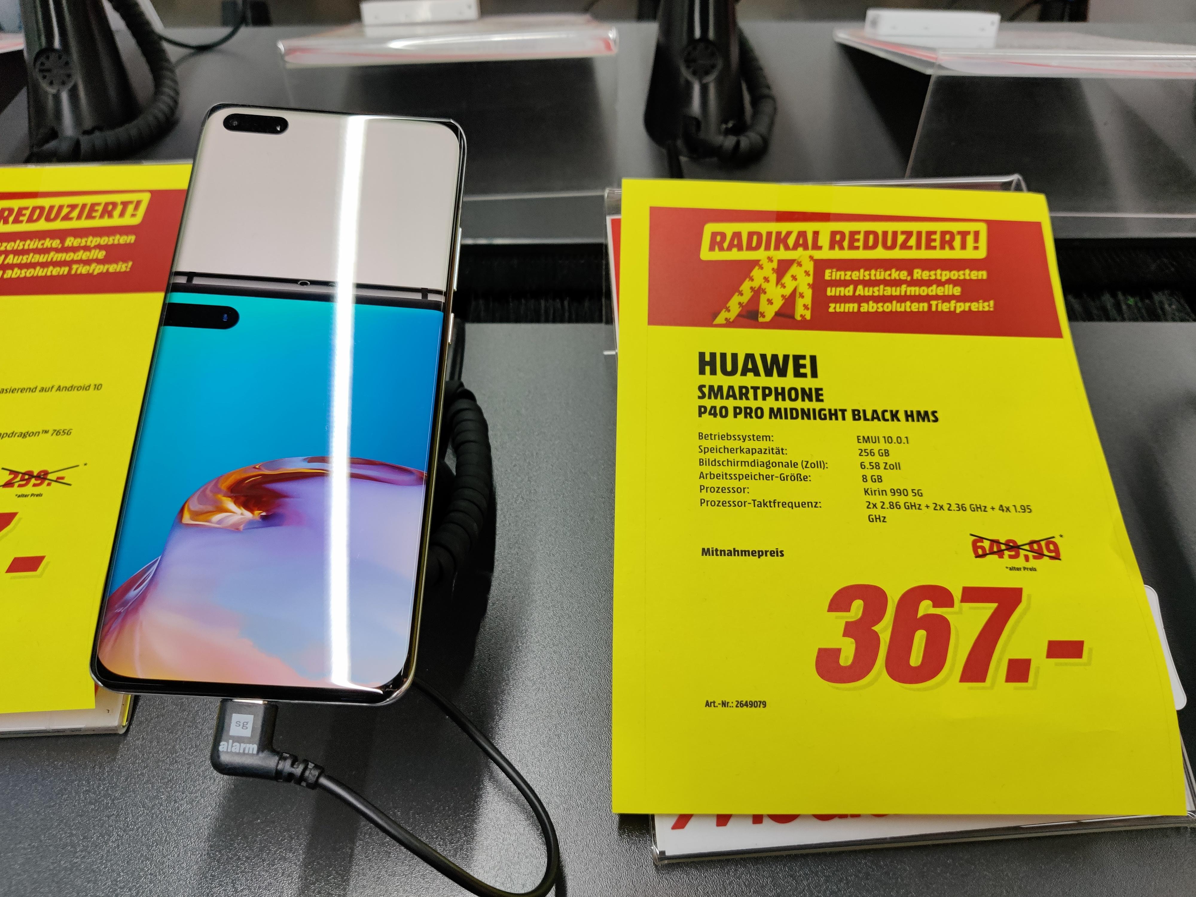 """[MM Buchholz Nordheide] Huawei P40 Pro 8/256GB 6,58"""" 90Hz // P40 8/128GB // Oppo Find X2 Lite"""