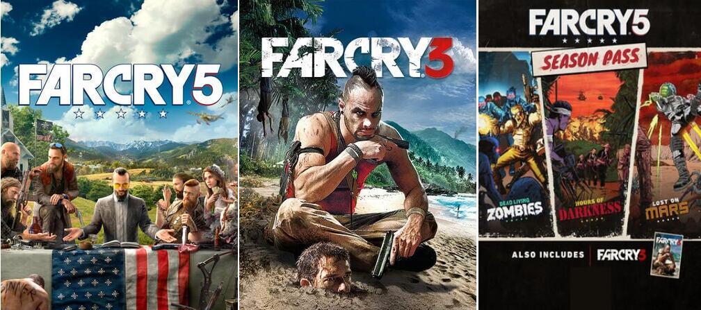 [PC] Far Cry 5 + FC 5 Season Pass & Far Cry 3 Classic - 6,50€ (Shopping optimization) - Ubisoft Store