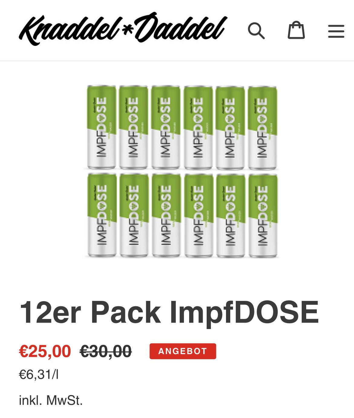 12 x Impfdose für 25€ bzw. 24 x für 49€