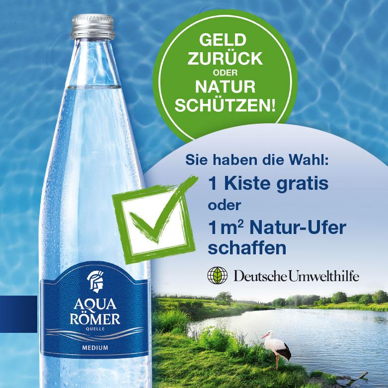 GZG für 1 Kiste Aqua Römer Quelle (Glasflasche) regional Baden-Württemberg
