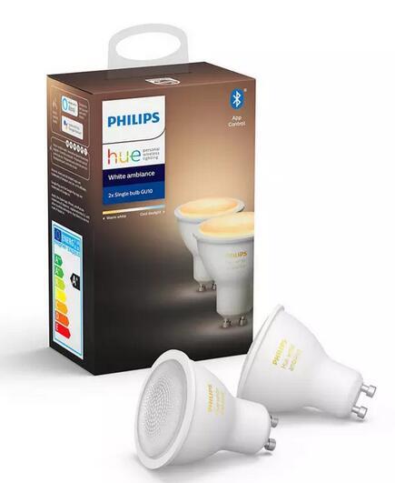 [XXLutz] Philips Hue White Ambiance GU10 5,5W Bluetooth (Doppelpack)