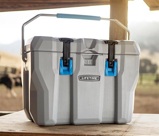 """Tchibo Onlineshop : 26 Liter Kühlbox von """" Lifetime"""", kühlt laut Hersteller bis zu 7 Tage mit Eis , Maße: 55x33x41cm"""