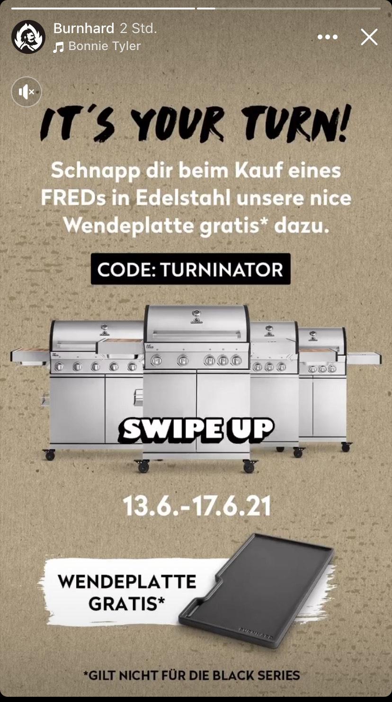 Burnhard Grill mit Gusseiserner Wendeplatte Gratis