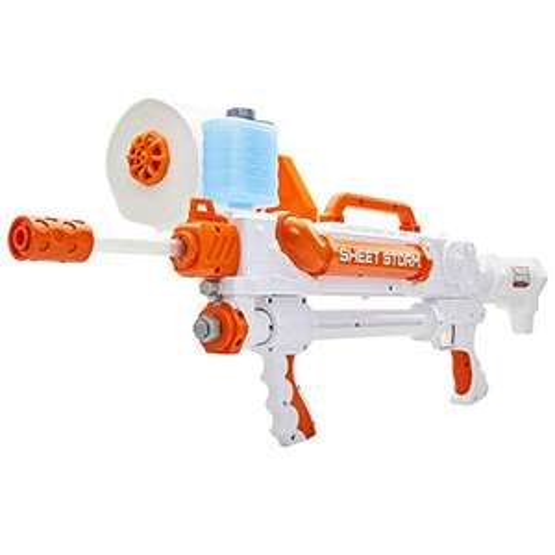 Po-Paper Wumme, Jakks 150304 - Toilet Paper Blaster Sheet Storm