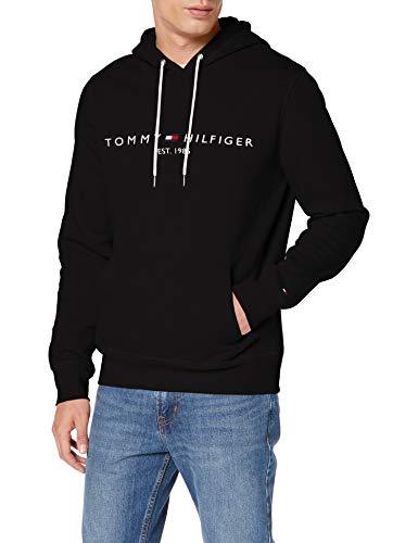 Tommy Hilfiger Herren Tommy Logo Hoody Sweatshirt in schwarz / verschiedene Größen