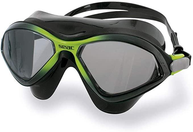 SEAC Unisex Diablo Schwimmbrille Taucherbrille schwarz / lime Pool @amazon