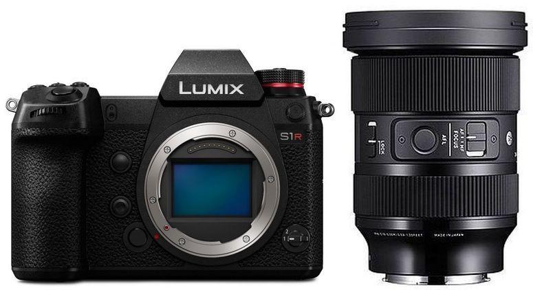 Panasonic Lumix S1R Systemkamera inkl. Sigma 24-70mm F2,8 Art Objektiv exkl. 200€ Trade In möglich