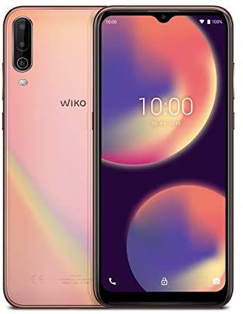 WIKO VIEW4 Smartphone, 5000 mAh Akku, 6,52 Zoll (16,5 cm), Dreifach-Kamera, 64GB + 3GB, Dual-SIM, Android 10, Cosmic Gold [Amazon]