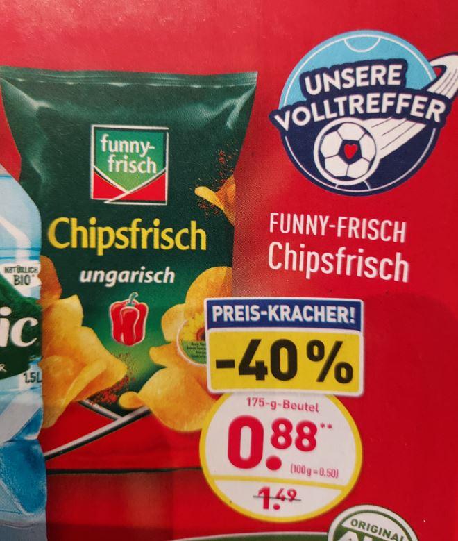 funny-frisch Chipsfrisch je 175 g verschiedene Sorten ab 14.06 ALDI Nord