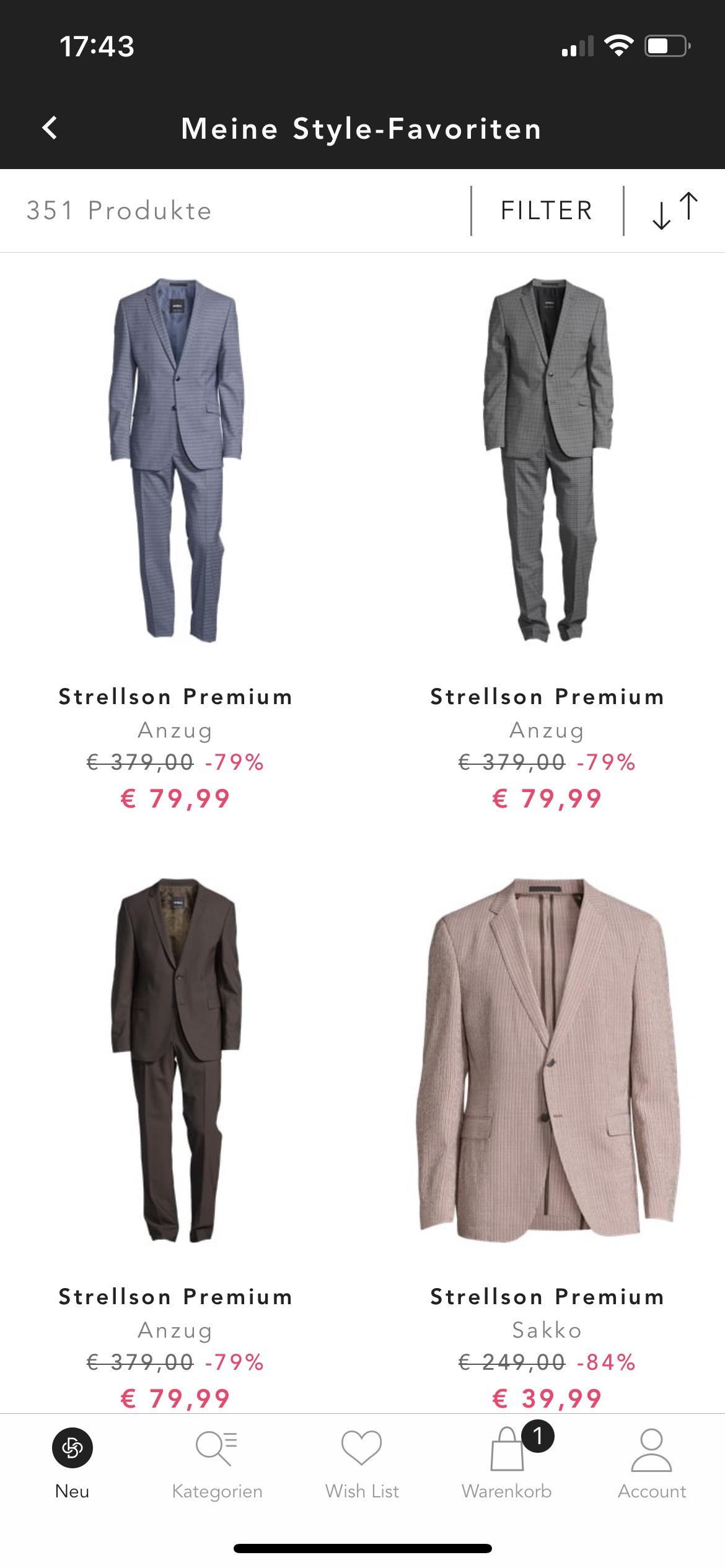 Strellson Premium Anzug (Bestpreis?)