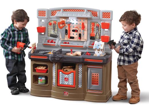 Step2 Kinder Miniaturwerkstatt Big Builders Pro Workshop Werkbank (Mit 45 Zubehörteilen) [iBOOD]