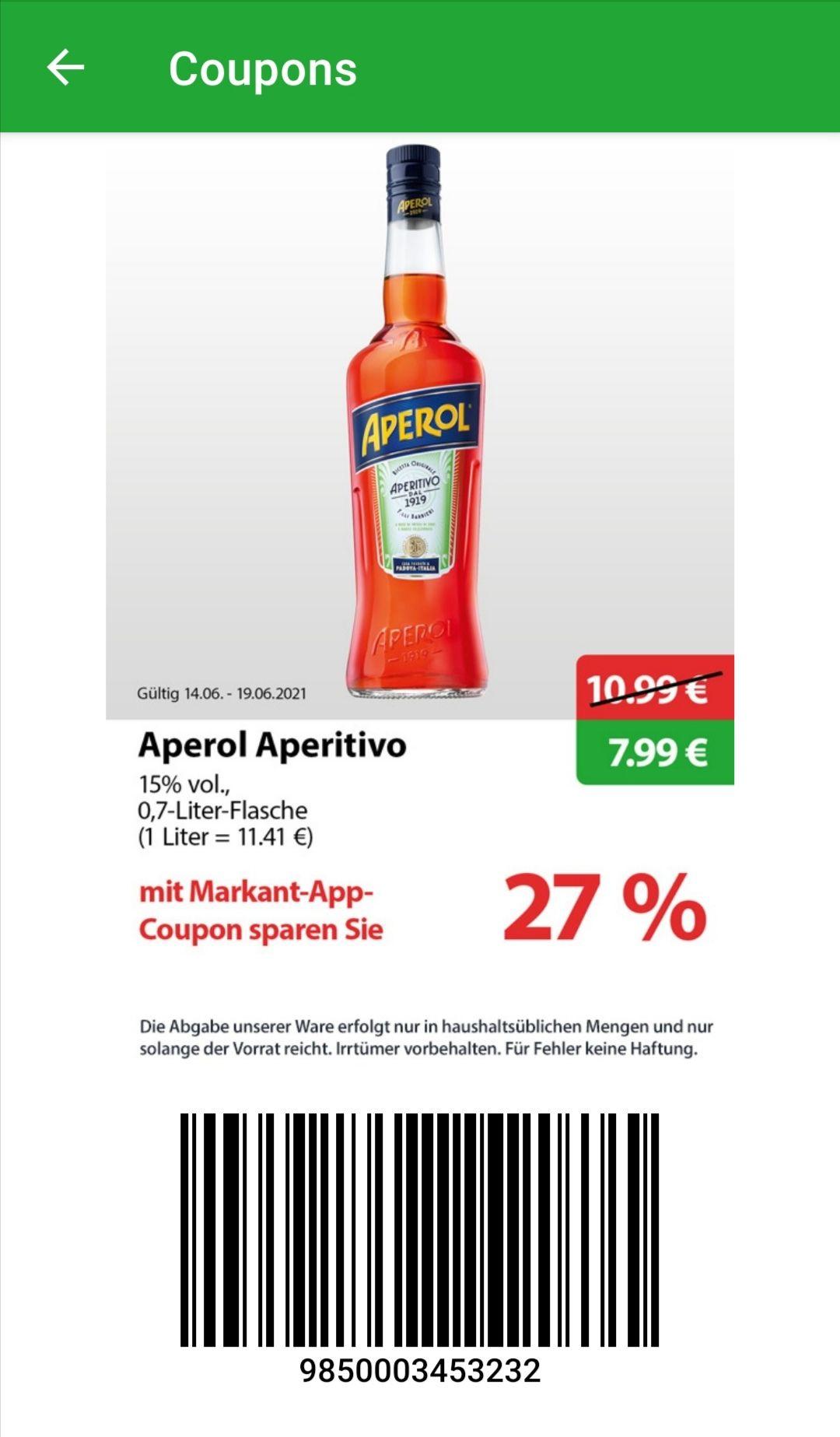 [Markant] Aperol Aperitivo 0,7l