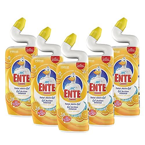 Amazon Prime: 5x 750ml WC Ente Gel, Citrus Splash, mit dem bekannten Entenhals- System, Flasche kostet damit umgerechnet 1,08 €