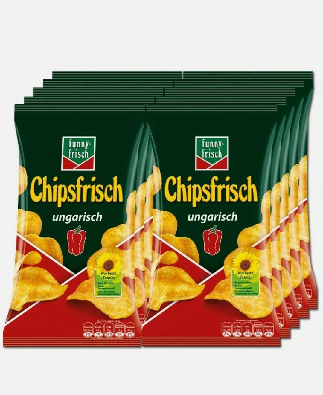 10x175 g Chips funny-frisch Chipsfrisch ungarisch, durch 5er Sparabo 7,38€ möglich (73 Cent pro) - Prime*Sparabo*