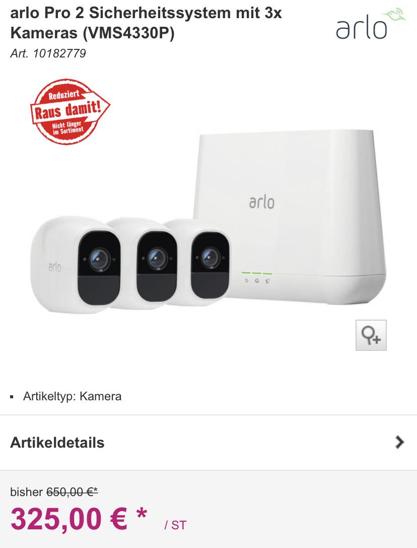 Arlo Pro 2 Sicherheitssystem incl. 3x Kamera (VMS4330P)