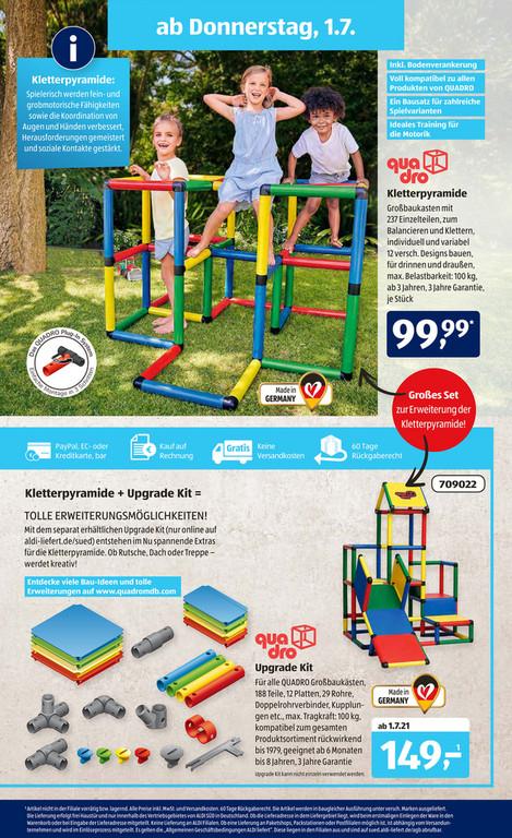 Aldi Süd: Quadro Kletterpyramide / Upgrade Kit ab 01.07