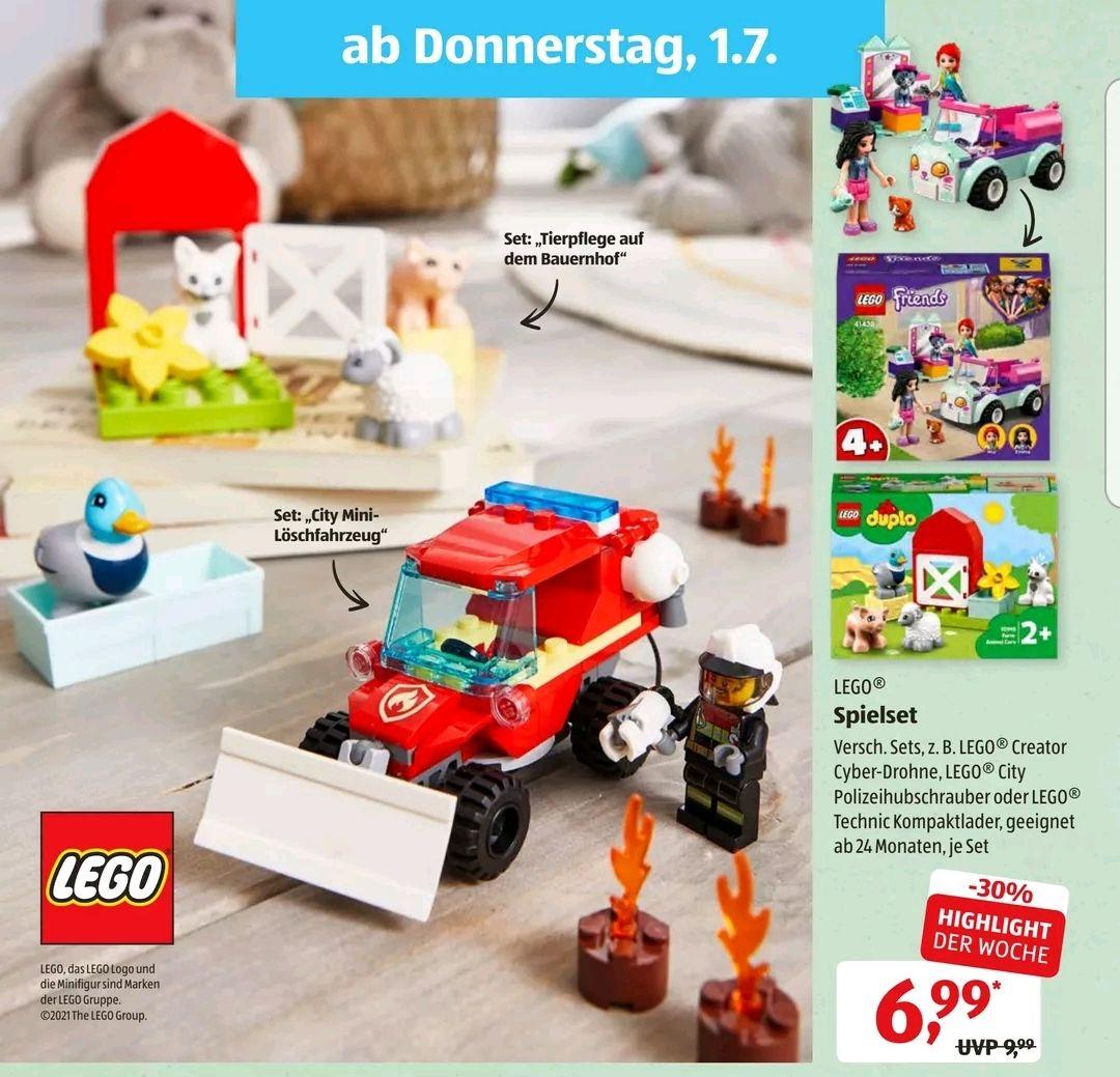 Lego verschiedene Sets, z.B. Mini-Löschfahrzeug 60279, Aldi Süd ab 01.07.21