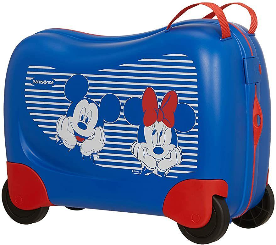 Samsonite Dream Rider Disney - Kinderkoffer, 51 cm, 28 L, Blau (Minnie/Mickey Stripes), 4 Rollen [Amazon]
