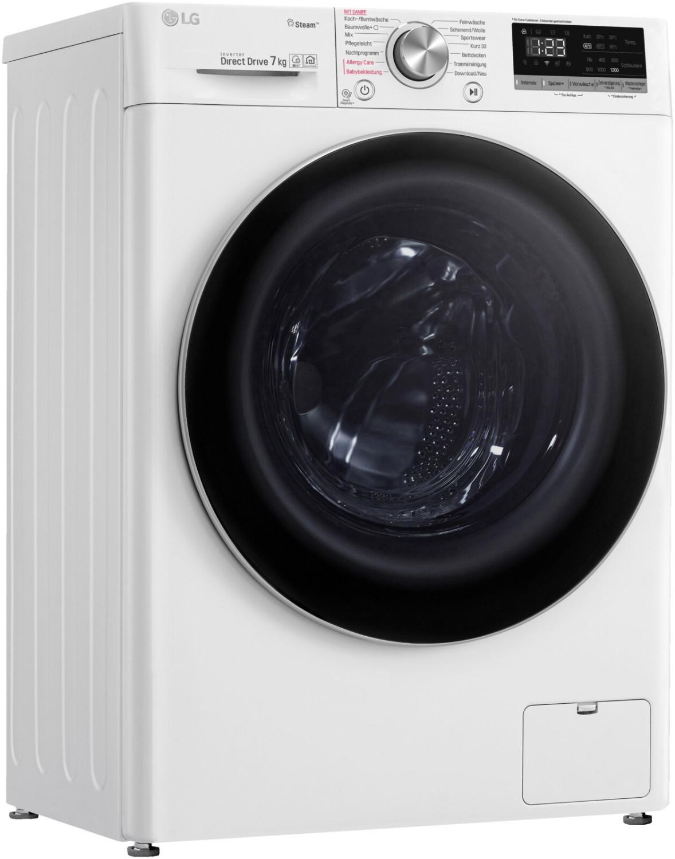 LG F2V4SLIM7 Waschmaschine (7kg, 42l, 1200U/min, 0.79kWh, Dampffunktion, WLAN, App-Steuerung, Direct Drive, AquaStop, 85x60x47cm, 60kg)