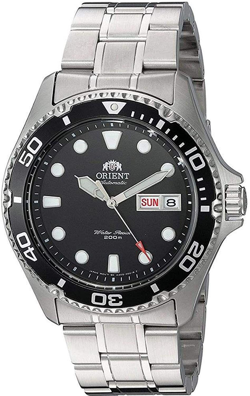 Orient Ray II Diver Automatikuhr (42 mm, Edelstahl, Datumsanzeige, wasserdicht bis 20 bar) Schwarz oder Blau
