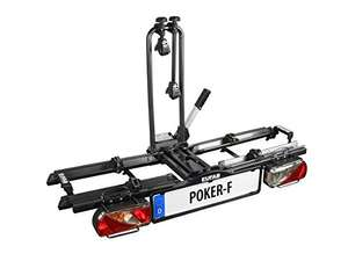 """EUFAB 12010LAS Fahrradträger: Kupplungsträger Poker-F (ehemals """"Raven"""") klappbar, für 2 Räder, für E-Bikes geeignet"""