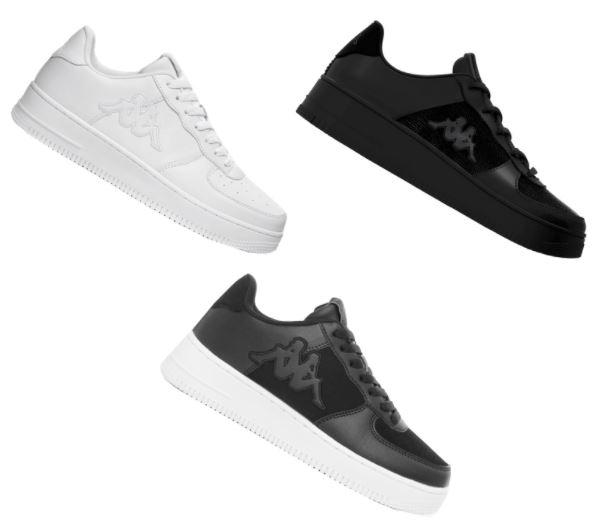 Kappa Sneaker Logo Salerno in weiß, schwarz oder schwarz/weiß (Größen 41 bis 46)