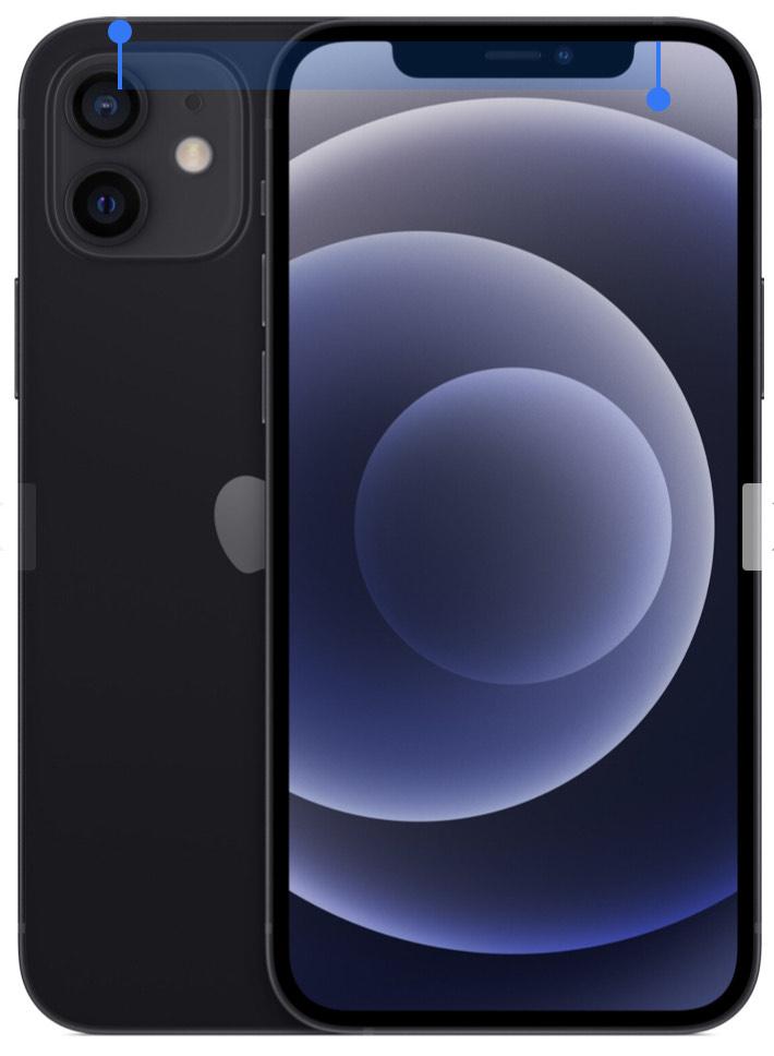 Apple iPhone 12 128GB Schwarz (Differenz besteuert)