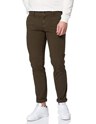 BOSS Herren Schino-Slim Slim-Fit Hose aus strukturierter Stretch-Baumwolle Größe 32