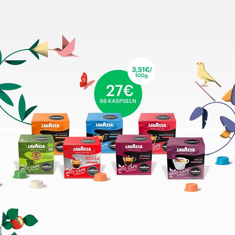 Lavazza - A Modo Mio Eco Kapseln direkt beim Hersteller günstig zu haben