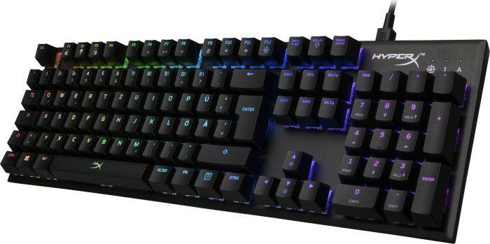 HyperX HX-KB1SS2-DE Alloy FPS RGB Gaming Tastatur, Kailh Silver Speed Switches QWERTZ deutsches Layout