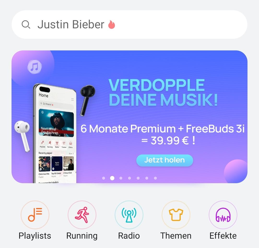 (Huawei Only) 6 Monate Huawei Music + Huawei Freebuds 3i für nur 39,99 Euro