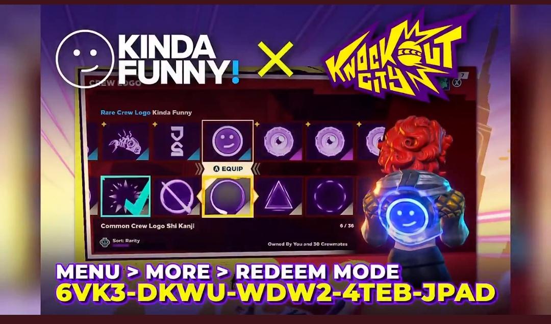 Knockout City - Kinda Funny Crew Logo + 21 Pride Player Icons Kostenlos