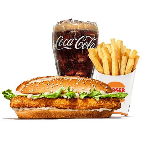 King des Monats: Long Chicken + mittlere King Pommes + 0,4L Coca Cola [Burger King]