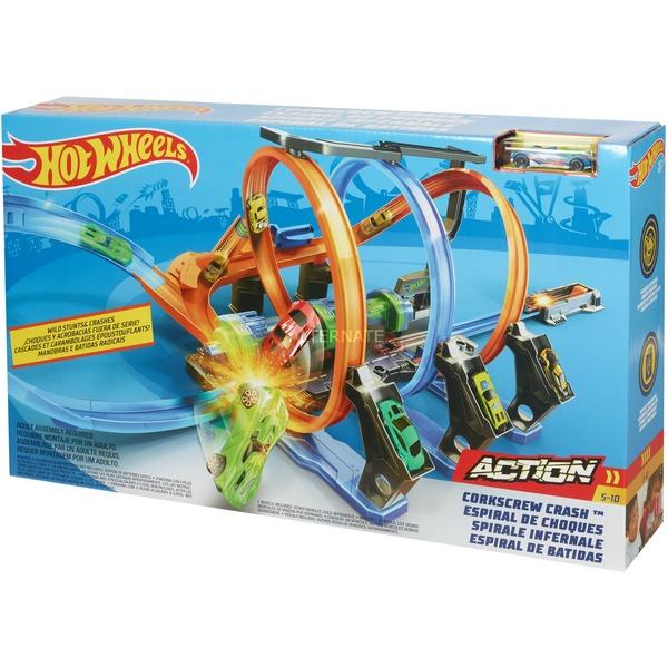 [ Alternate.de ] Hot Wheels Sammeldeal ( Mini Edition ) / Korkenzieher-Crash Trackset /// Stunt N Go Transporter & Trackset /// Sammelkoffer