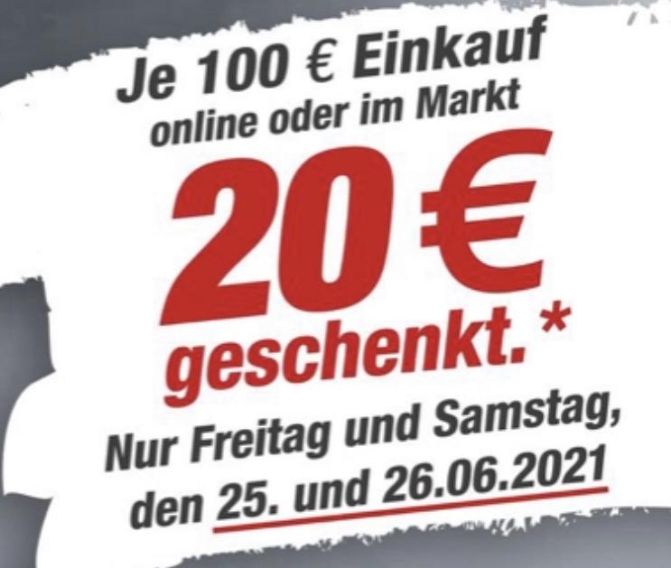 toom Gutscheintag: 20€ Gutschein je 100€ Einkauf geschenkt am 25.06. u. 26.06. (online und im Markt)