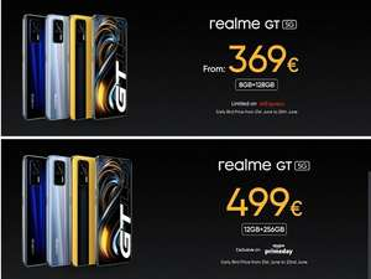 "[Prime Day] Realme GT 5G 256/12GB (Snapdragon 888, 6.43"" 120Hz Amoled Display, 64MP Triple Kamera, 4500mAh Akku, 65W Laden, 186 Gramm)amazon"