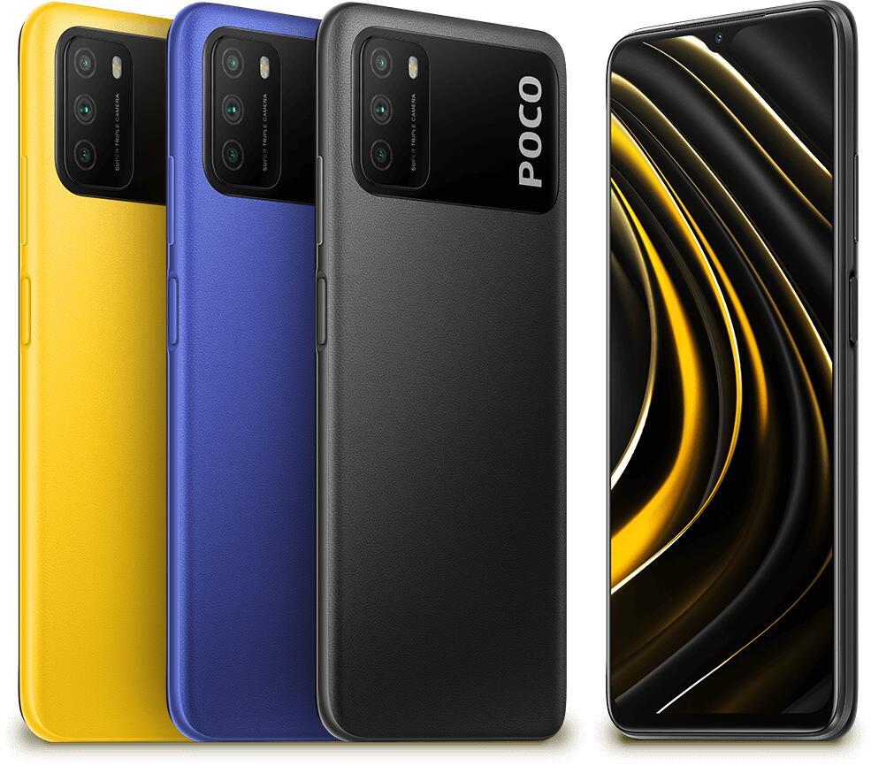 [Nur am 16.6.] POCO M3 - Alle Farben - 4GB+128GB, 8 MP Triple-Kamera, 18 W, 6.000 mAh Akku mit PB-Funktion, SD 662, Offizieller POCO-Store