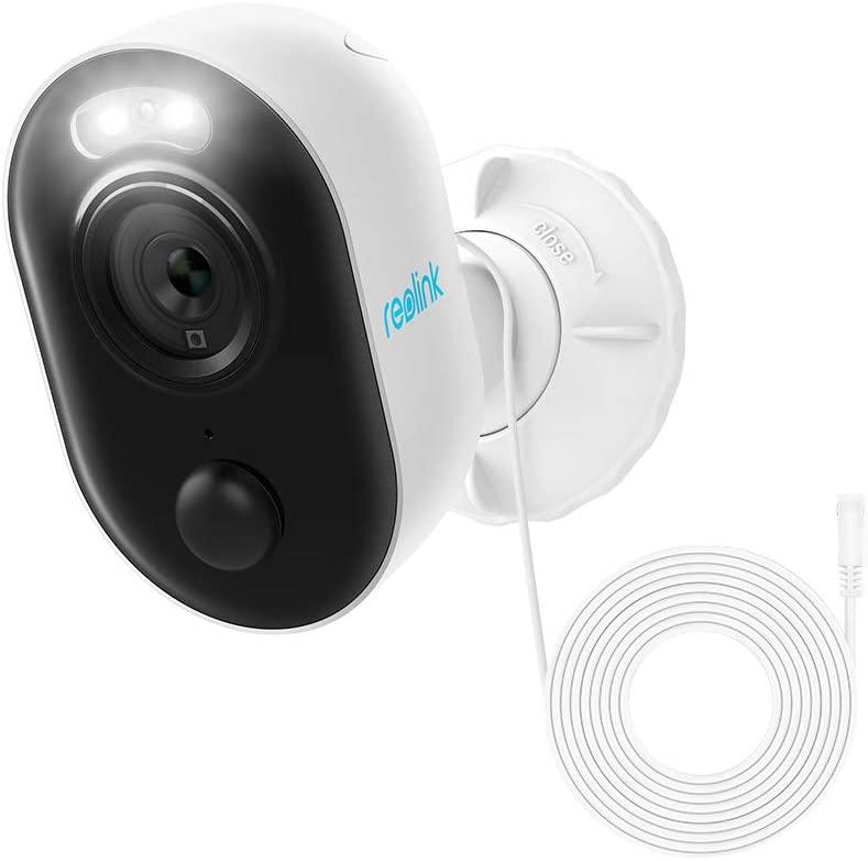 Reolink Lumus Überwachungskamera (1920x1080@30fps, WLAN, 180lm LED-Licht, 10m Nachtsicht, Bewegungserkennung, microSD, Google Assistant)