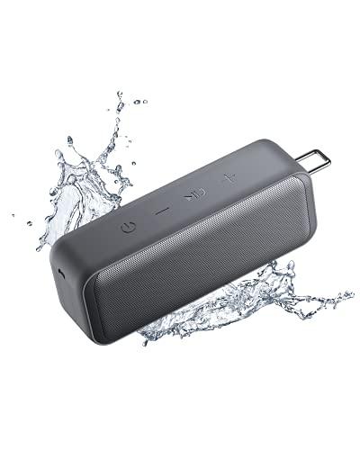AUKEY SK-A2 Bluetooth Lautsprecher ( TWS Stereosound,BT 5.0, 28h Akku, IP67 Wasserdicht und Staubfest, Outdoor und Reisen (Grau) )