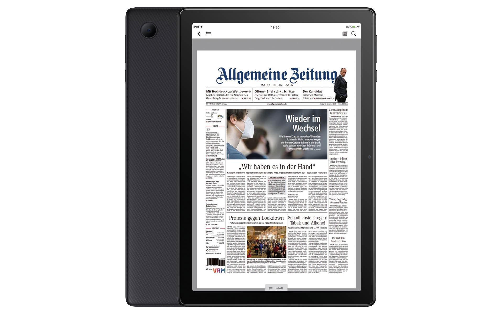 2 Jahre E-Paper lesen + gratis Alcatel Tablet