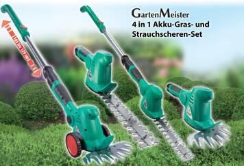 GartenMeister Akku Gras- & Strauchschere 10,8 Volt mit Fahrstock