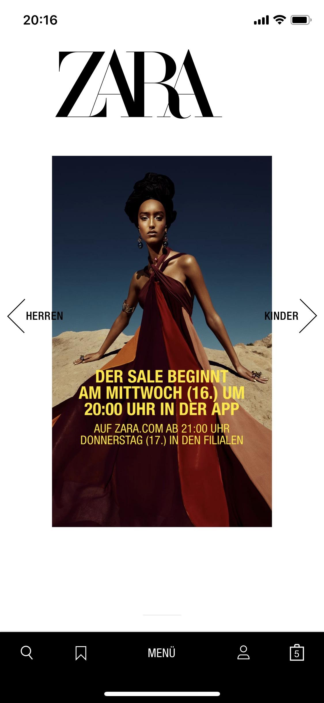 Riesen Zara Sale bis zu 55% Rabatt