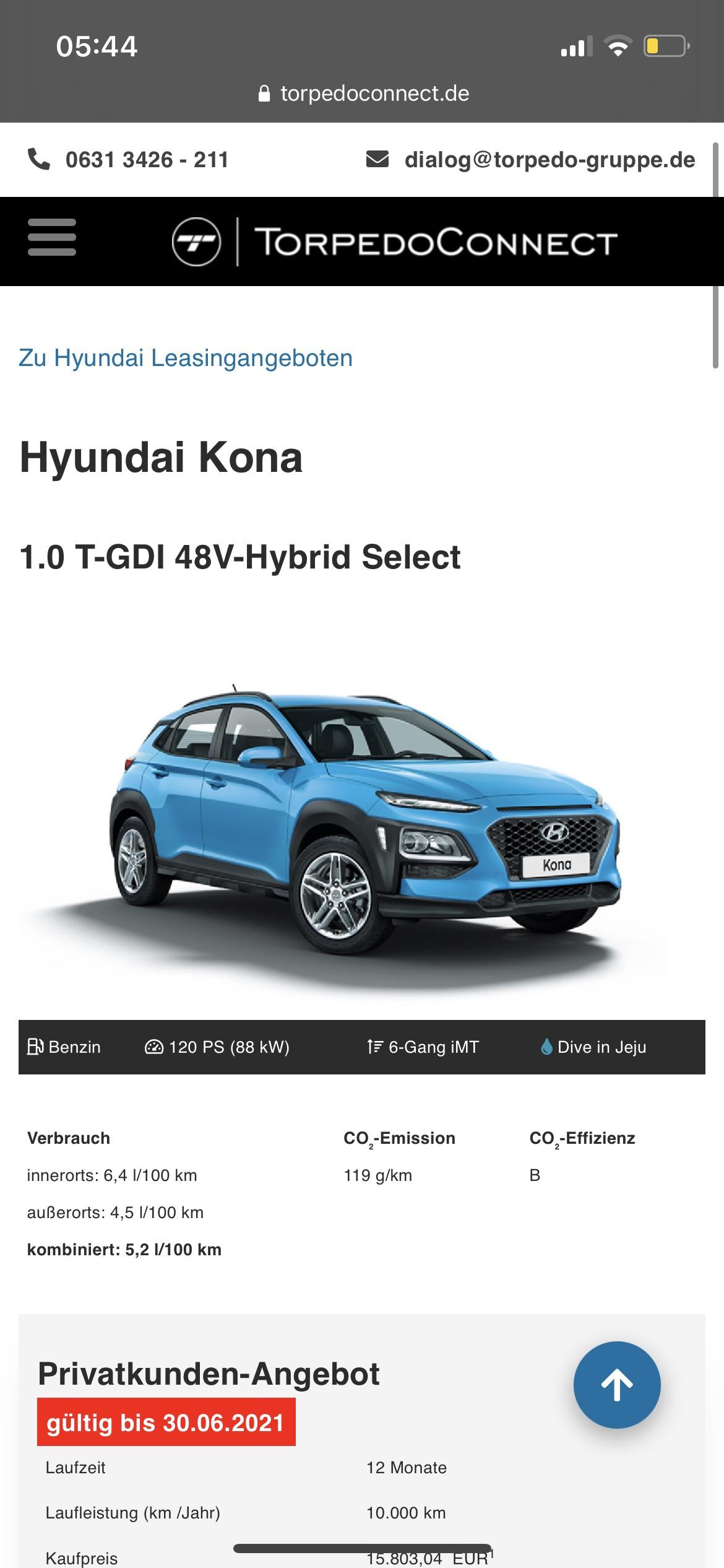 Hyundai Kona Privatleasing