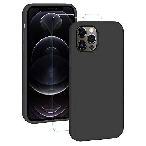 EasyAcc Hülle Silikon Case Kompatibel mit iPhone 12 Pro
