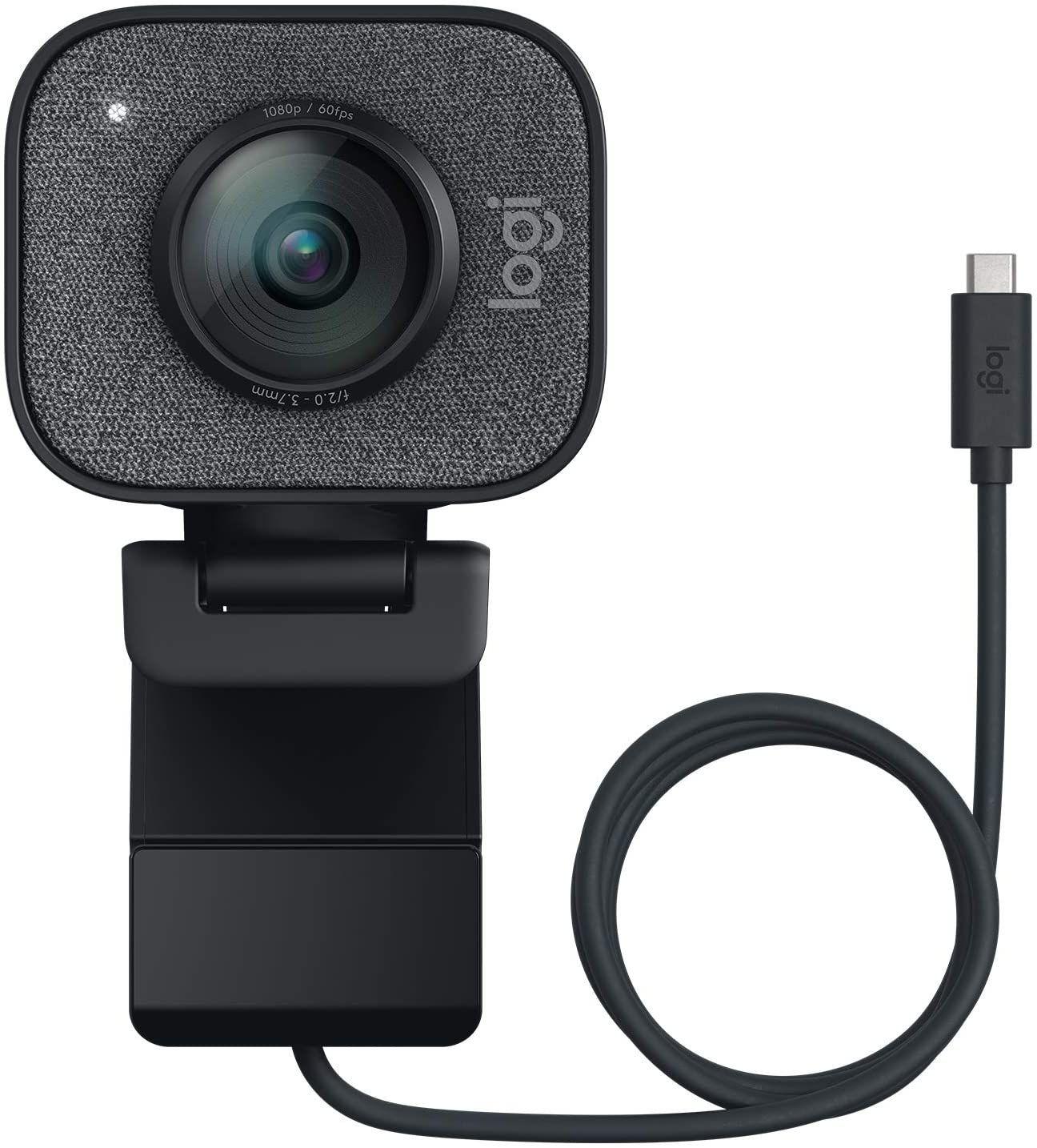Logitech Streamcam - Full HD Webcam (1080p bei 60 fps, Smart Autofokus & Belichtung, zwei Mikrofone, USB-C, Vertikaler Modus, für PC & Mac)