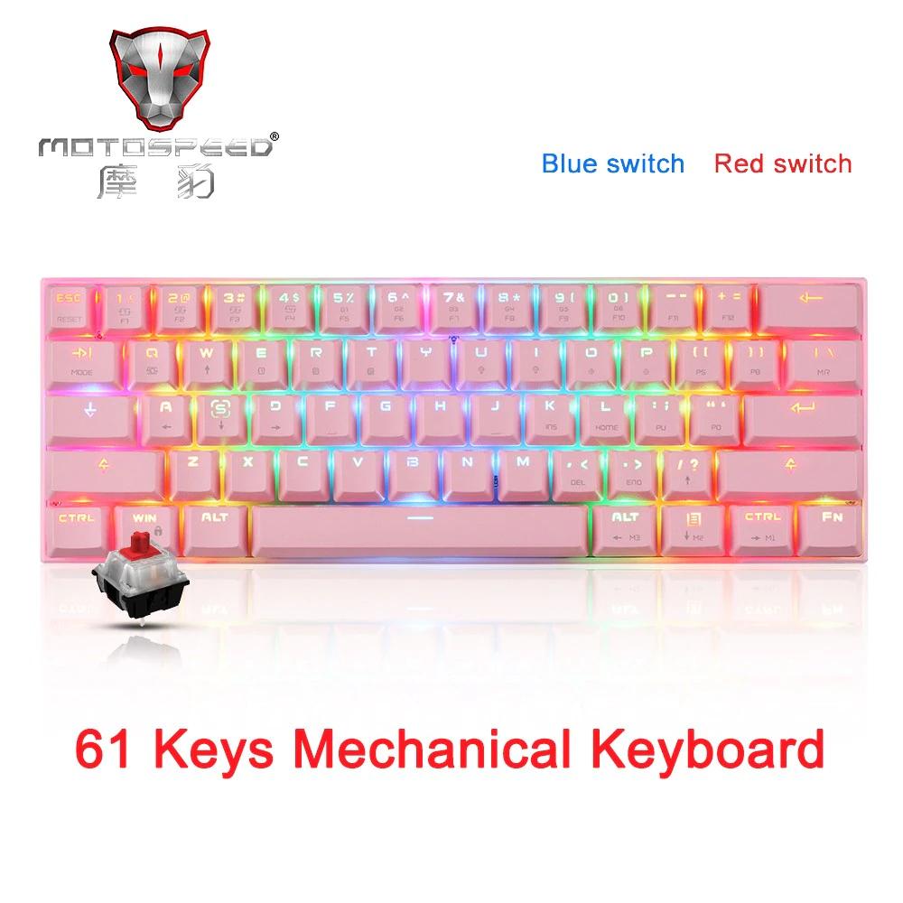 [Motospeed-CK62] Mechanische Gaming-Tastatur (RGB, 61Tasten)